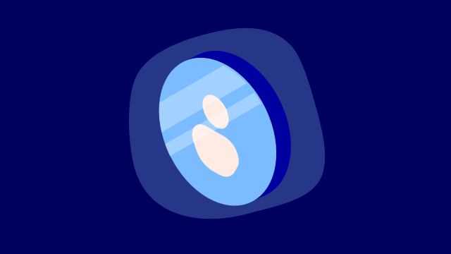 user on blue background small