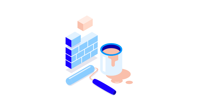 Brick wall & bucket of paint - 640X530 TEST